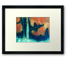 Ice Forest Fire Framed Print