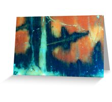 Ice Forest Fire Greeting Card