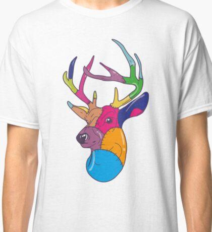 Patchwork Reindeer Classic T-Shirt