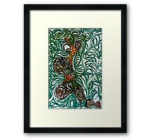 Orange eye's woman Framed Print