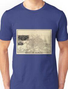 Panoramic Maps Bird's-eye view of Kalamazoo Unisex T-Shirt