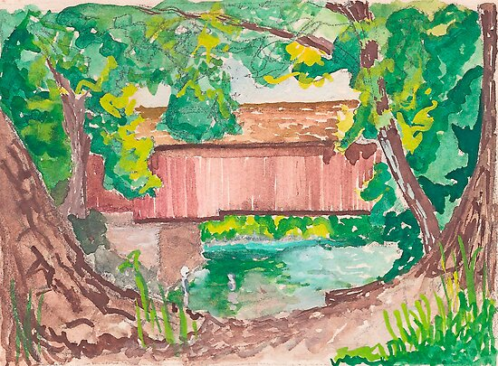 Covered Bridge  by Fred Jinkins
