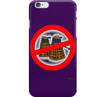 Doctor Who No Parking Sign Design iPhone Case/Skin