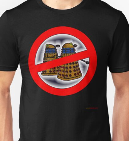 Doctor Who No Parking Sign Design Unisex T-Shirt