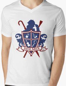 Holmes Family Crest Mens V-Neck T-Shirt