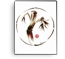 """eternity"" :  Enso sumi-e dry brush acrylic painting   Canvas Print"