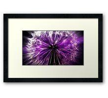 purple fairy Framed Print