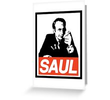 Obey Saul Greeting Card