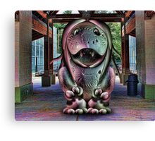 The Egg Muppet in Fan Booths Canvas Print