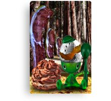 Egg Bacon Forest Creme Puff Canvas Print