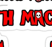 Little Kitty Death Machine Logo Sticker