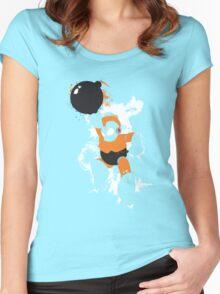 Bomb Man Explosive Splatter Design Women's Fitted Scoop T-Shirt