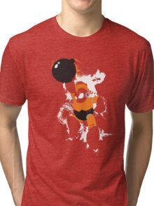 Bomb Man Explosive Splatter Design Tri-blend T-Shirt