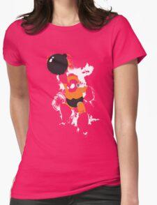 Bomb Man Explosive Splatter Design Womens Fitted T-Shirt