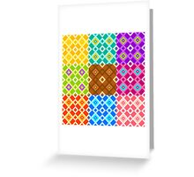 Color patterns Greeting Card