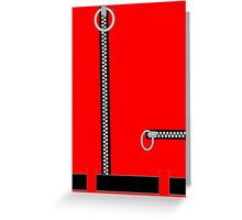 Captain Scarlet Blue Grey WHATEVER Greeting Card
