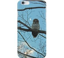 Barred Owl and Moon iPhone Case/Skin