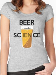 BEER is made from SCIENCE Women's Fitted Scoop T-Shirt