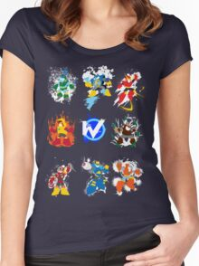 Robot Masters of Mega Man 2 Women's Fitted Scoop T-Shirt