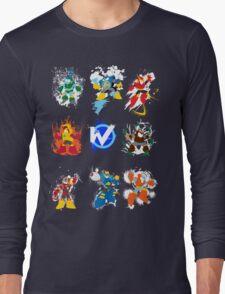 Robot Masters of Mega Man 2 Long Sleeve T-Shirt