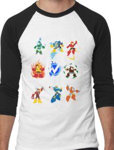 Robot Masters of Mega Man 2 Men's Baseball ¾ T-Shirt