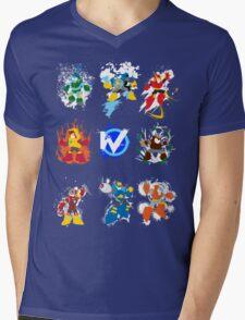 Robot Masters of Mega Man 2 Mens V-Neck T-Shirt