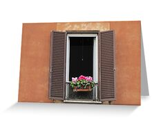 Roman Window #1, March 2012 Greeting Card