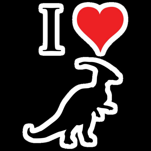 I Love Dinosaurs - Parasaurolophus by jezkemp