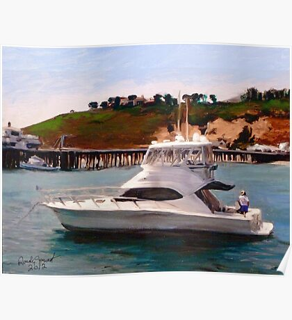 Gail Anne at Malibu Pier Poster