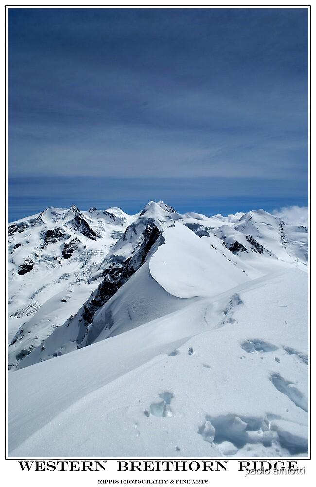 western breithorn ridge by paolo amiotti