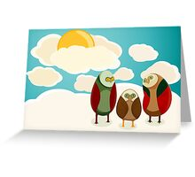 Owls in the sky Greeting Card