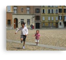 LORENZO E CATERINA IN PIAZZA DUOMO A PARMA...-italy--1500 visualizzaz.maggio 2013-VETRINA RB EXPLORE 13 MAGGIO 2012 ---- Canvas Print