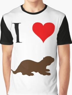 I Love Otters Graphic T-Shirt