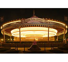 King Arthur's Carousel - Night Photographic Print