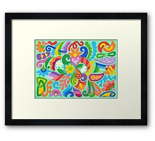 COLORS AND SHAPES Framed Print