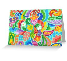 COLORS AND SHAPES Greeting Card