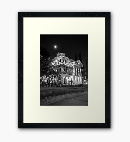 Haunted Mansion - Night Framed Print