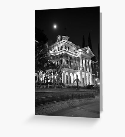 Haunted Mansion - Night Greeting Card