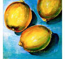 Lemons on Blue Canvas Photographic Print