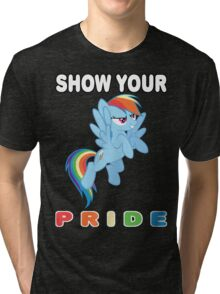 Show Your Pride Rainbow Dash Tri-blend T-Shirt