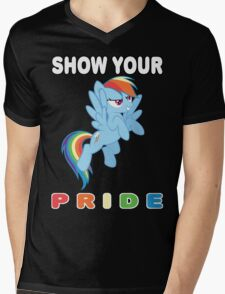 Show Your Pride Rainbow Dash Mens V-Neck T-Shirt