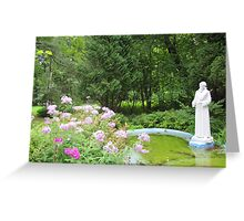 St. Francis Statue, St. Francis Monastery and Shrines, Kennebunk Greeting Card