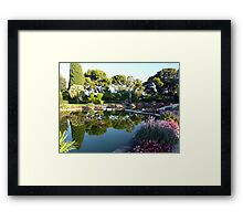 The Garden Of The Rothschild Villa On Cap Ferrat Framed Print