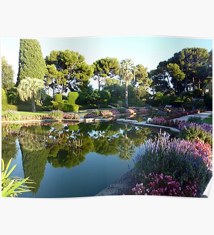 The Garden Of The Rothschild Villa On Cap Ferrat Poster