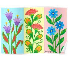 TREE NICE FANTASY FLOWERS Poster