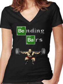Breaking Bad Walter White Gym Motivation Women's Fitted V-Neck T-Shirt