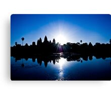 Blue Sunrise at Angkor Wat Canvas Print