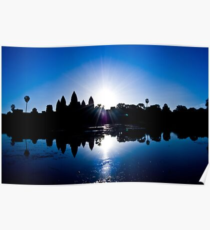 Blue Sunrise at Angkor Wat Poster