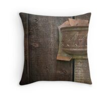 Planks and Planter on the Wall Throw Pillow