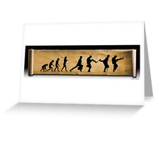 Darwin's Evolution of the Silly Walk Greeting Card